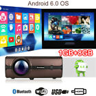 1080P LCD Projector Android 6.0 Bluetooth WiFi 1G+8G 4000 Lumen USB VGA SD HDMI