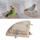 Pet Parrot Wood Platform Stand Rack Toy Hamster Branch Perches For Bird Cage S-L