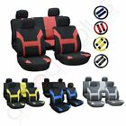 New Durable Mesh Cloth Car/Auto Seat Covers W/Steering Wheel Cover For Audi