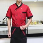 Unisex Double Breasted Cook Suit Short-sleeve Clothes Chef Uniform Chef Coats US