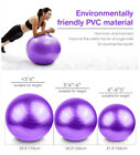 55/65/75 CM Purple Yoga Ball Fitness Exercise Training Balance Strength W/A Pump image