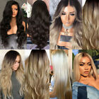 Curly Wig Glueless Full Wigs Women Indian Remy Wigs Hair Front HOT US