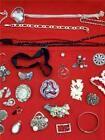 Mixed collection Vintage Antique Costume Jewellery Spares Repair