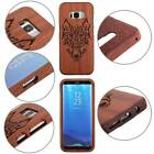 Wolf Carved Wood Bamboo Fitted Case Back Phone Cover For Samsung Galaxy S9 Skin