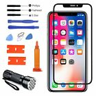 For iPhone X Replacement Front Screen Glass Lens UV Light Bundle Repair Kit