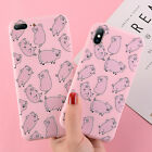 Slim Happy Pig Pattern Soft Silicone Rubber Case Cover For iPhone X 6 7 8 XS XR