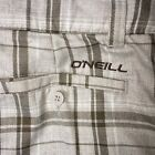 O'Neill Men's Size 32 Board Shorts Checkered Golf Casual Dress Flat Front Stripe