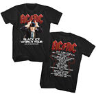 ACDC Black Ice World Tour Live Men's T Shirt Angus Young Rock Band Concert Album