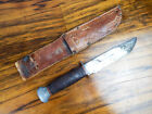 Vintage WW2 Remington Hunting PAL 36 Military Knife Fixed Blade Leather Sheath