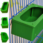 2019 Green Bird Parrot Food Water Bowl Pigeons Pet Cage Feeder Feeding Supplies