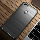 For Oppo R17 R15 Pro A73 Shockproof Slim Carbon Fiber Silicone Phone Case Cover