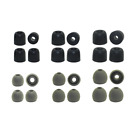 Replacement Earbud Tips for 1More - 6 pr. Silicone  6 pr. Memory Foam Ear Tips