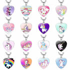 Children's Cartoon Unicorn Heart Pendant Necklace Heart Shaped Necklaces Oyw