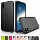 For Apple iPhone XS Max 8 7 6s 6 Phone Case with Hidden Credit Card Hybrid Cover