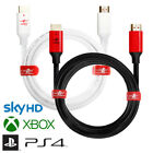 Long HDMI Cable, JuicEBitz® v1.4 Lead for SKY HD PS4 XBox 4K TV FreeSat FreeView