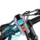 USB Rechargeable Bike Front LED Light USB Headlight Bell Flashlight Camping