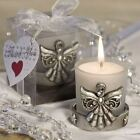 Angelic Candle Holder Favours - Silver Angel Detail