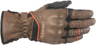 Alpinestars Cafe Divine Drystar Leather Gloves BROWN BLACK SHIPS FREE
