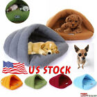 US Cat Dog House Kennel Puppy Cave Sleeping Bed Super Soft Mat Pad Warm Nest
