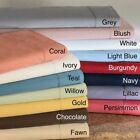 High Deep Pocket Soft 6 PC Bedding Sheet Set US Twin XL Size Solid Colors image