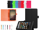 NEW LEATHER SMART FLIP STAND CASE COVER FOR AMAZON KINDLE FIRE HD 8 (2018) ALEXA