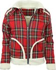 Relco D Ring Flannel Red Tartan Sherpa Jacket Vintage Retro Lumberjack CLEARANCE