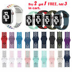 Replacement Silicone Sport Band 44mm 42mm 40mm 38mm For Apple Watch iWatch Nike+ image