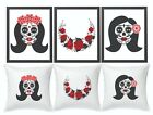 Gothic Day of dead La Cartina Wall Art Prints Cushion Poster Canvas home decor