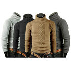 Mens Thermal Sweater Pullover Winter Warm TurtleNeck Knitwear Long Sleeve Casual