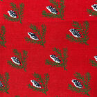 Vintage Christmas Dinner Napkins Neiman Marcus Cloth Red Pine Cone Set of 4