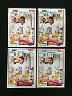 JAMES LOFTON 1982 TOPPS LOT (4) GEEEN BAY PACKERS VINTAGE FOOTBALL CARDS