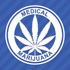 Medical Marijuana Vinyl Decal Sticker 420 Pot Leaf Weed Cannabis