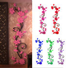 Diy Rose Flower Pattern Removable Wall Vinyl Decal For Home Wall Decoration Ee