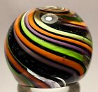 S And Z Marblez 1 7/16th pansy flower paper weight