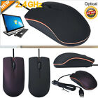 1200PDI USB 3D Silent Wired Optical Mouse Mice For PC Laptop Windows Worker Mice
