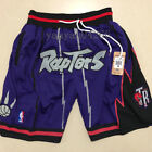 Men's Toronto Raptors shorts Vince Carter Basketball JUST DON LOGO pants Purple on eBay