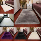 Внешний вид - Faux Fur Sheepskin Hairy Carpet Non-slip Mat Balcony Floor Soft Rug Pad Cushion