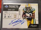 2013 Prestige Football Card Eddie Lacy Draft Tickets Autograph RC Packers