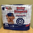 NEW MLB Chicago Cubs Baby Braco Diapers Size 3 24 pack Ultra think FREE SHIP!