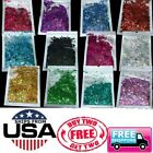 Kyпить Rainbow Holographic Holo Glitter Mix Chunky Hex Nail Art Face Festival Crafts   на еВаy.соm