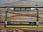 PENNSYLVANIA LICENSE PLATE TAG NUMBER METAL FRAME VINTAGE PA PITTSBURGH PENGUIN