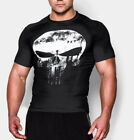 Mens Punisher Muscle Fit Sport Gym T-Shirt Bodybuilding Fitness Tee Athletic Top