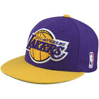 Mitchell & Ness NBA Hardwood Classics Los Angeles Lakers XL 2 Tone Fitted Cap