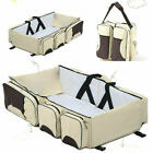 3 in 1 Baby Travel Portable Bassinet Cot Mommy Travel Bag Diaper Change Bed Crib