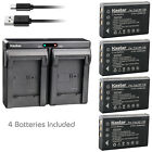 Kastar Battery Dual Charger for CONTAX BP-1500S Tvs Digital & KYOCERA BP-1500S