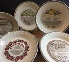 Royal China Jeannette Pie Plate Dish with Recipe Various Plates Sold by Piece