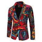 Abstract Printed One Button Shawl Collar Blazer