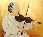 Albert Einstein Playing Violin- Fine Art Print - Marianne L'Heureux -