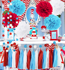 Dr Seuss Cat in The Hat Party/Dr Suess Decor Bridal Shower Decorations Turquoise