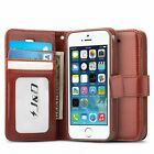 J&D Case Compatible for iPhone 5S / iPhone 5 Case[Wallet Stand] [Slim Fit]